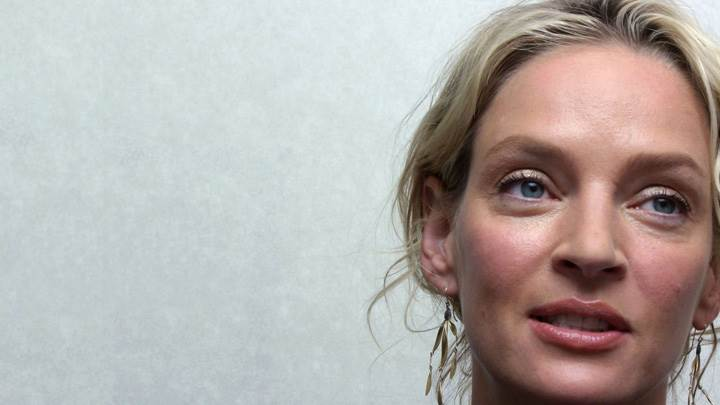 Uma Thurman Wet Lips Cute Face Closeup